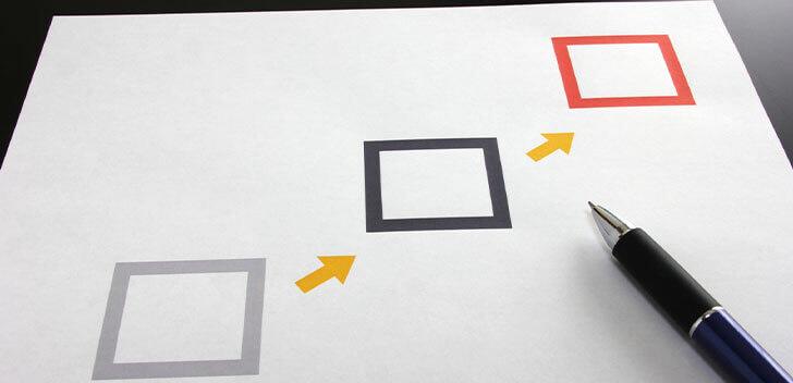 3つの段階を追うイメージ