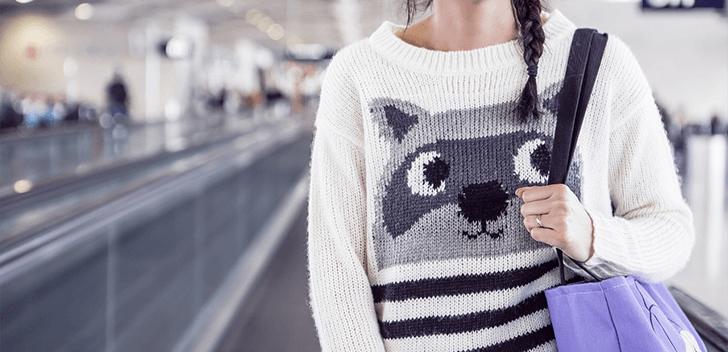 セーターを着ているイメージ