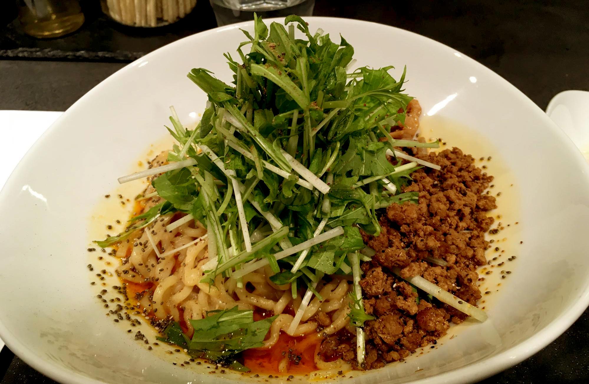 山椒の効いた汁なし担々麺