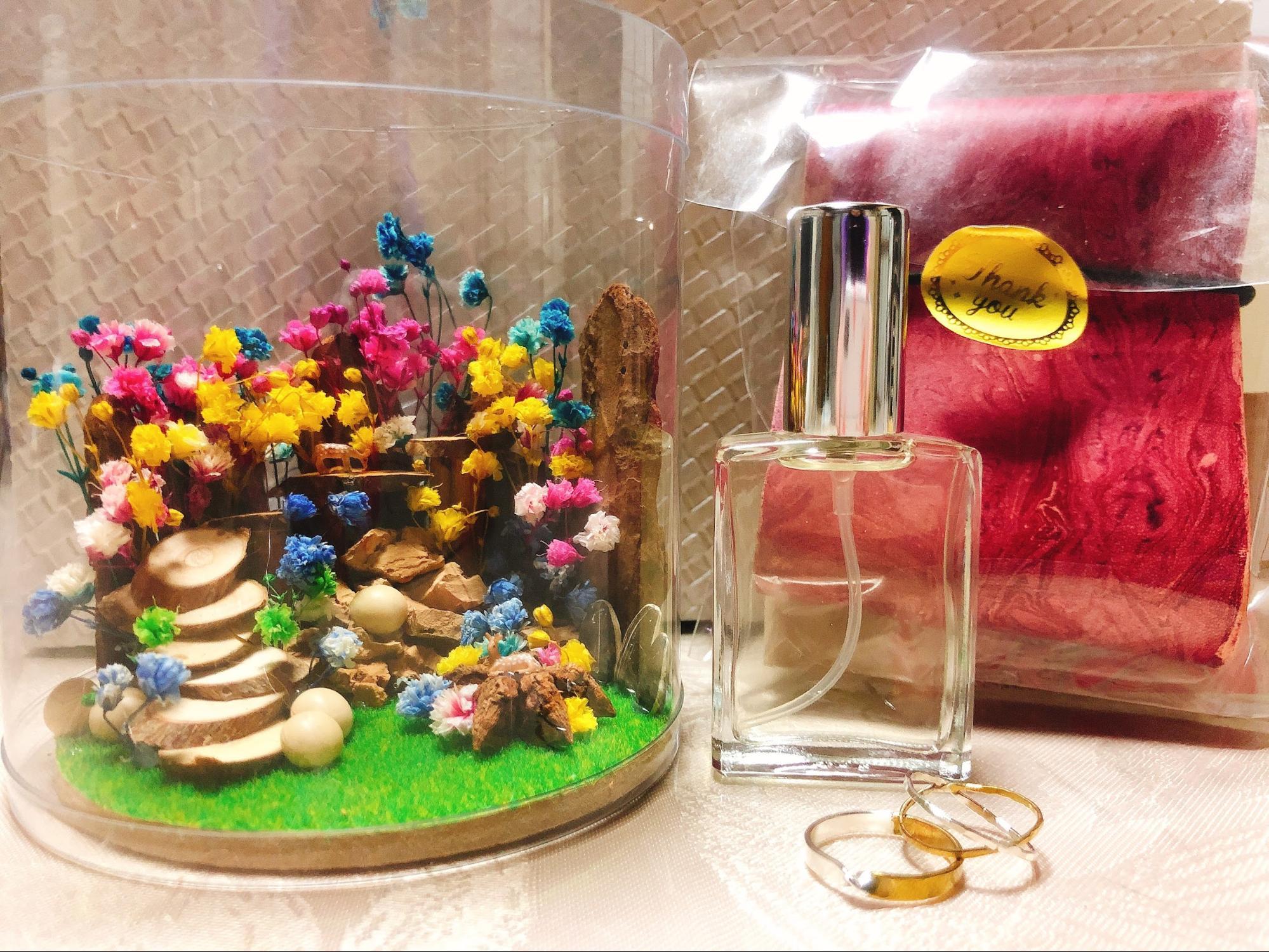 ミニチュアジオラマと香水